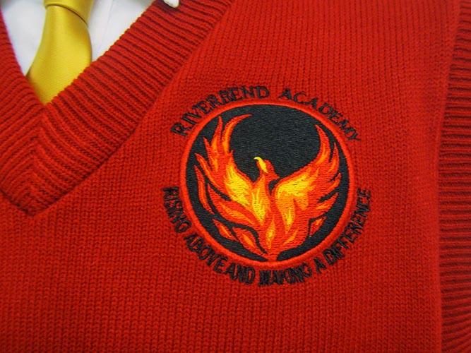 Riverbend_Academy_Vest_Logo